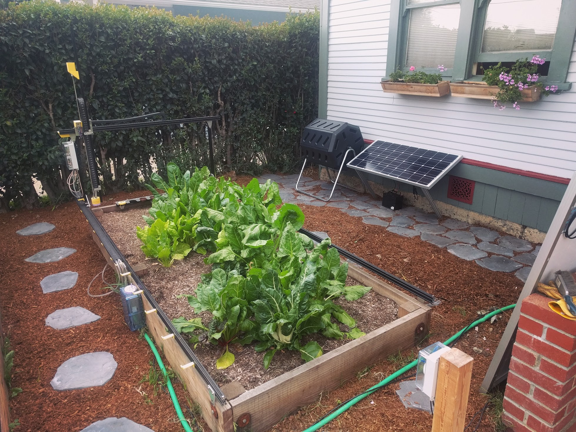 farmbot with solar and compost