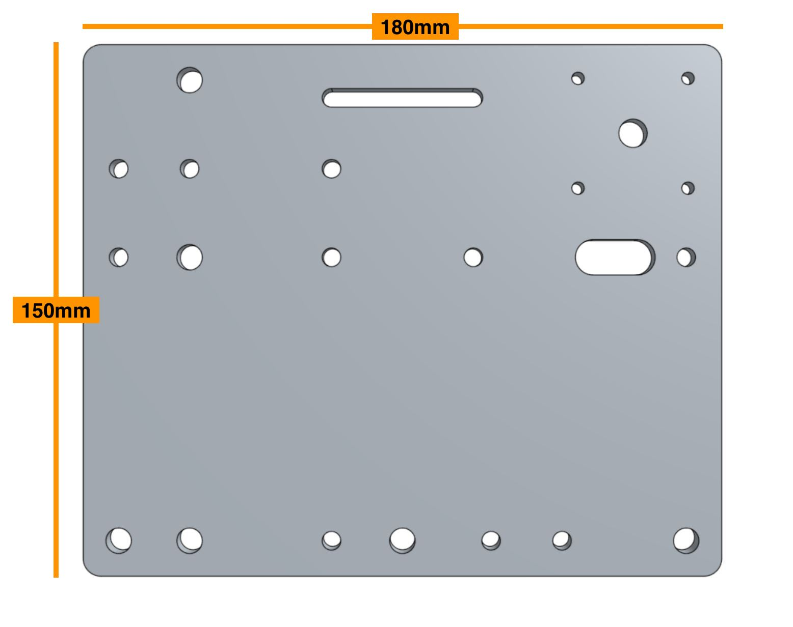 correct cross-slide plate
