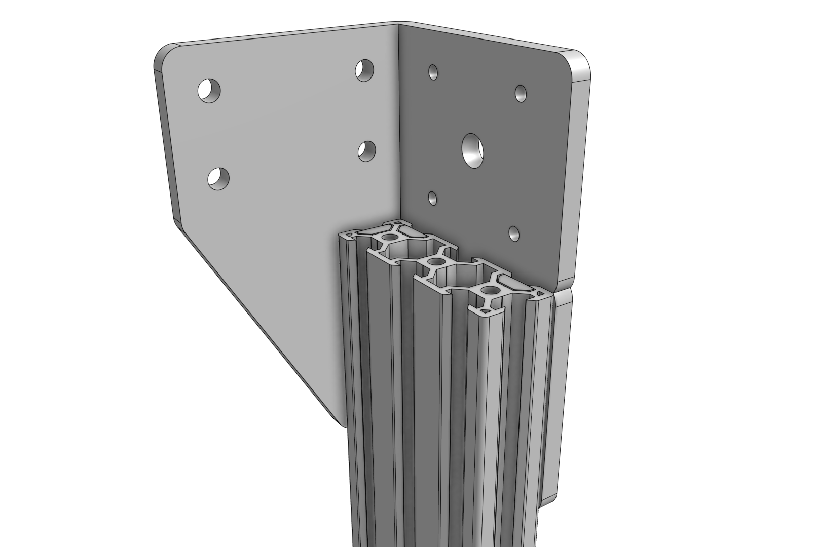 Align the top of the extrusion with the bracket notch