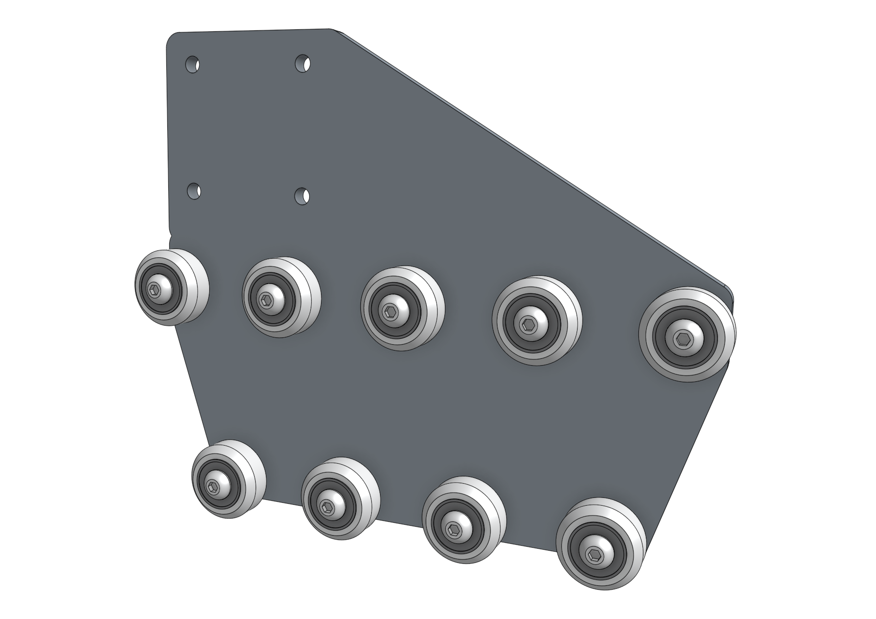 gantry wheel plate with all wheels
