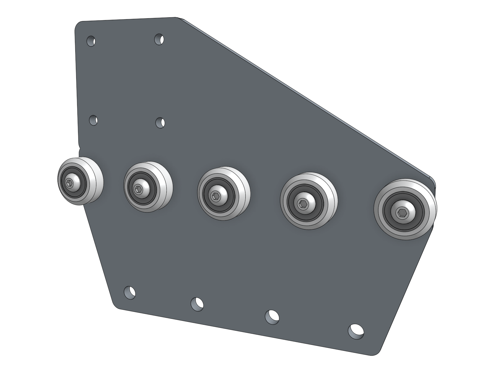 gantry wheel plate with five wheels