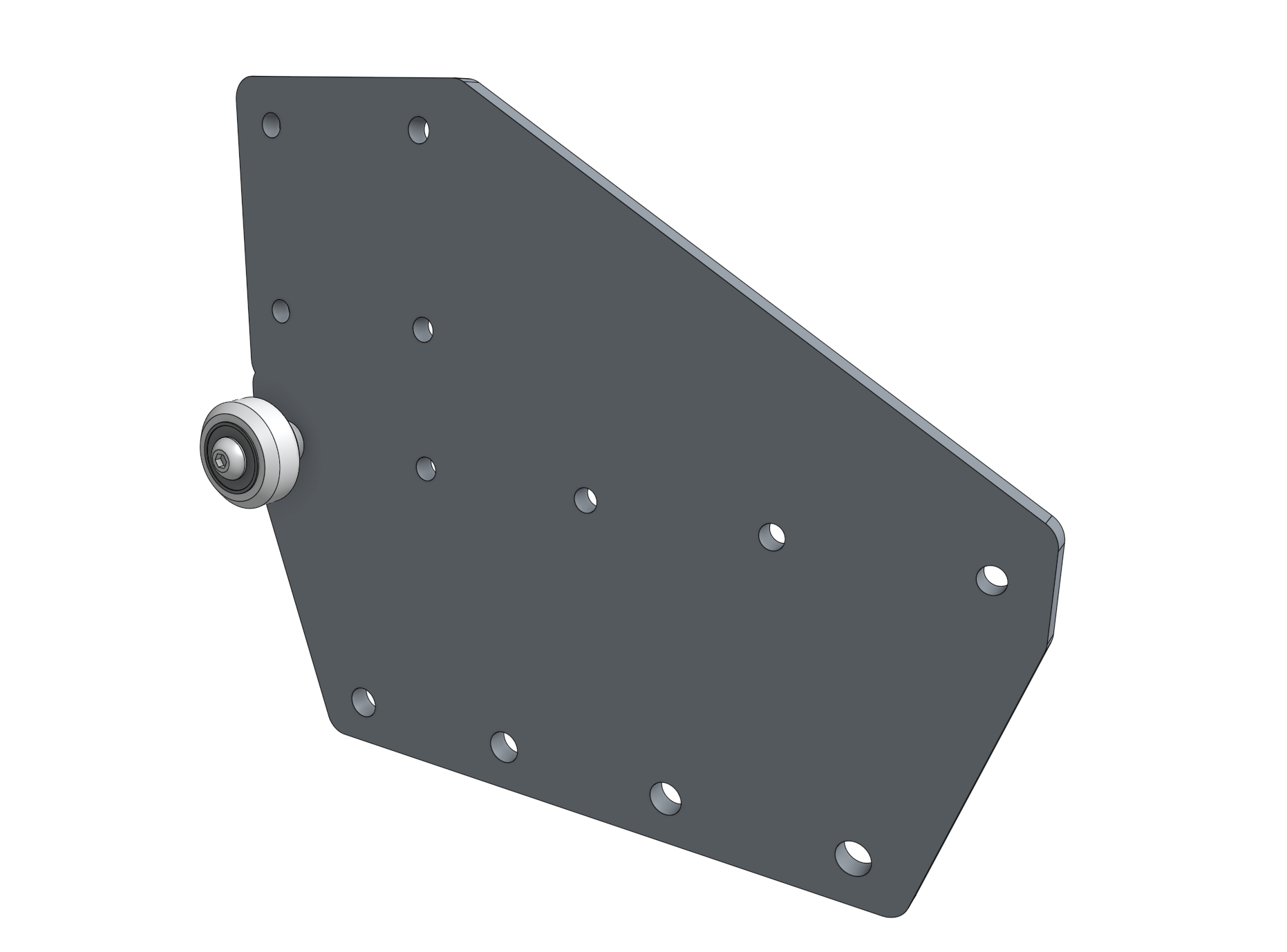 gantry wheel plate with one wheel