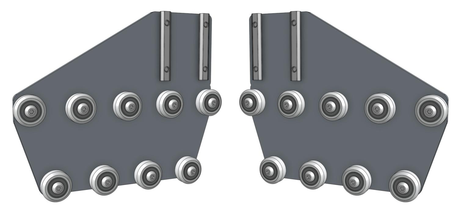 gantry wheel plates with nut bars